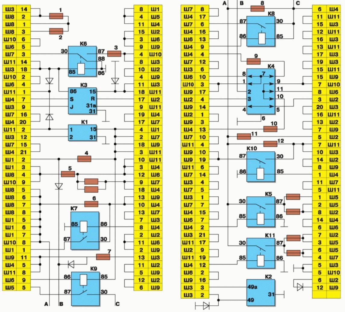 электро схема ваз 2199