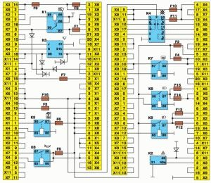 Схема монтажного блока ВАЗ 2109-08-099 2114-3722010.60