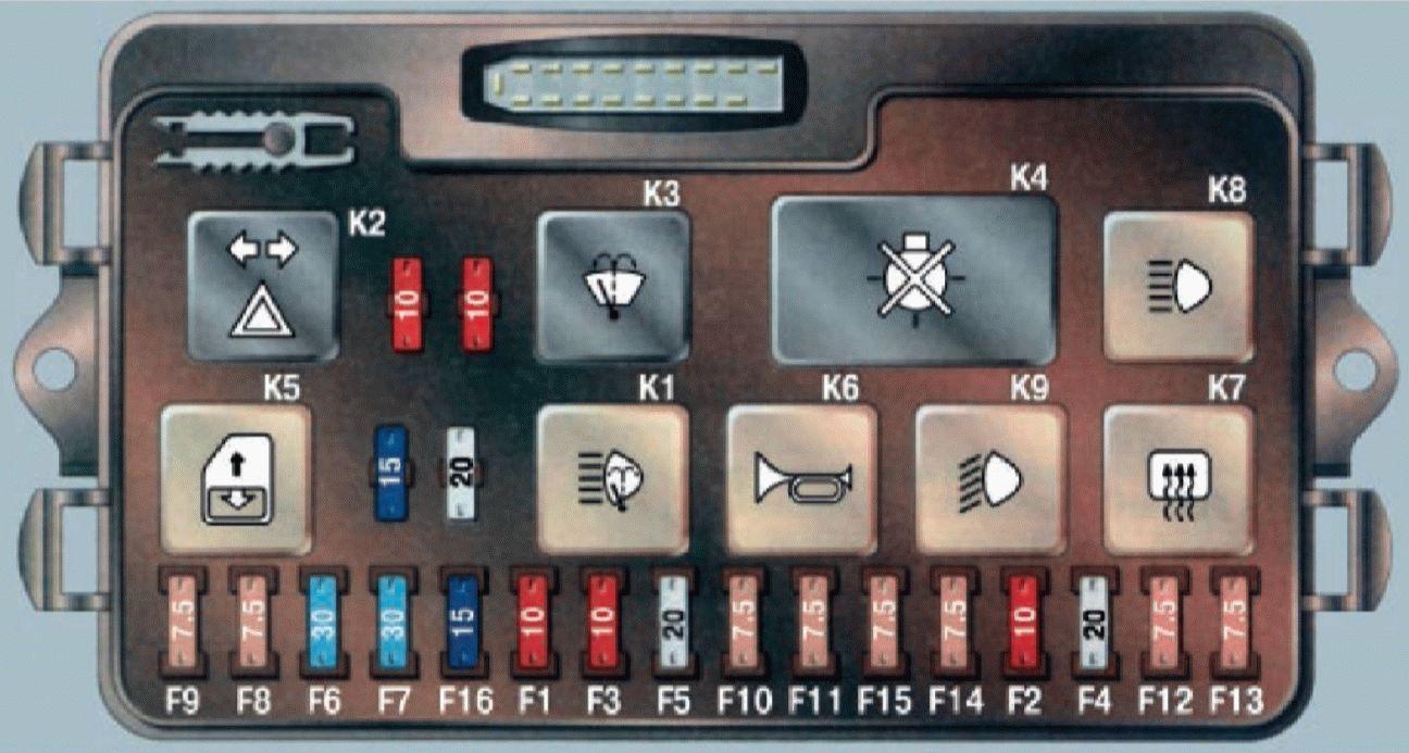 Схема предохранителей на ваз 2115 инжектор
