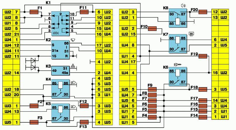 Схема реле от ваз2110
