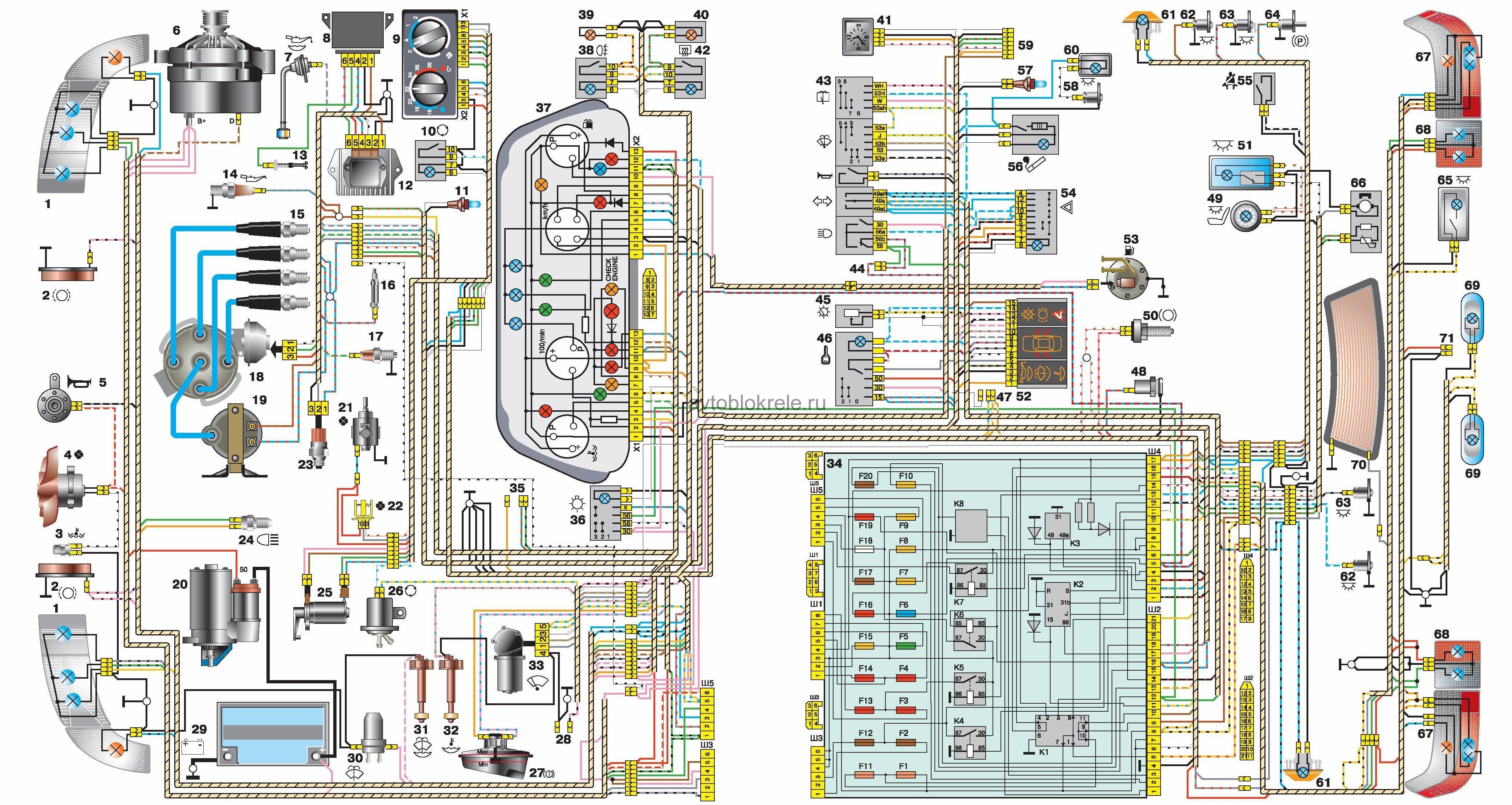 Схема проводки byd f3