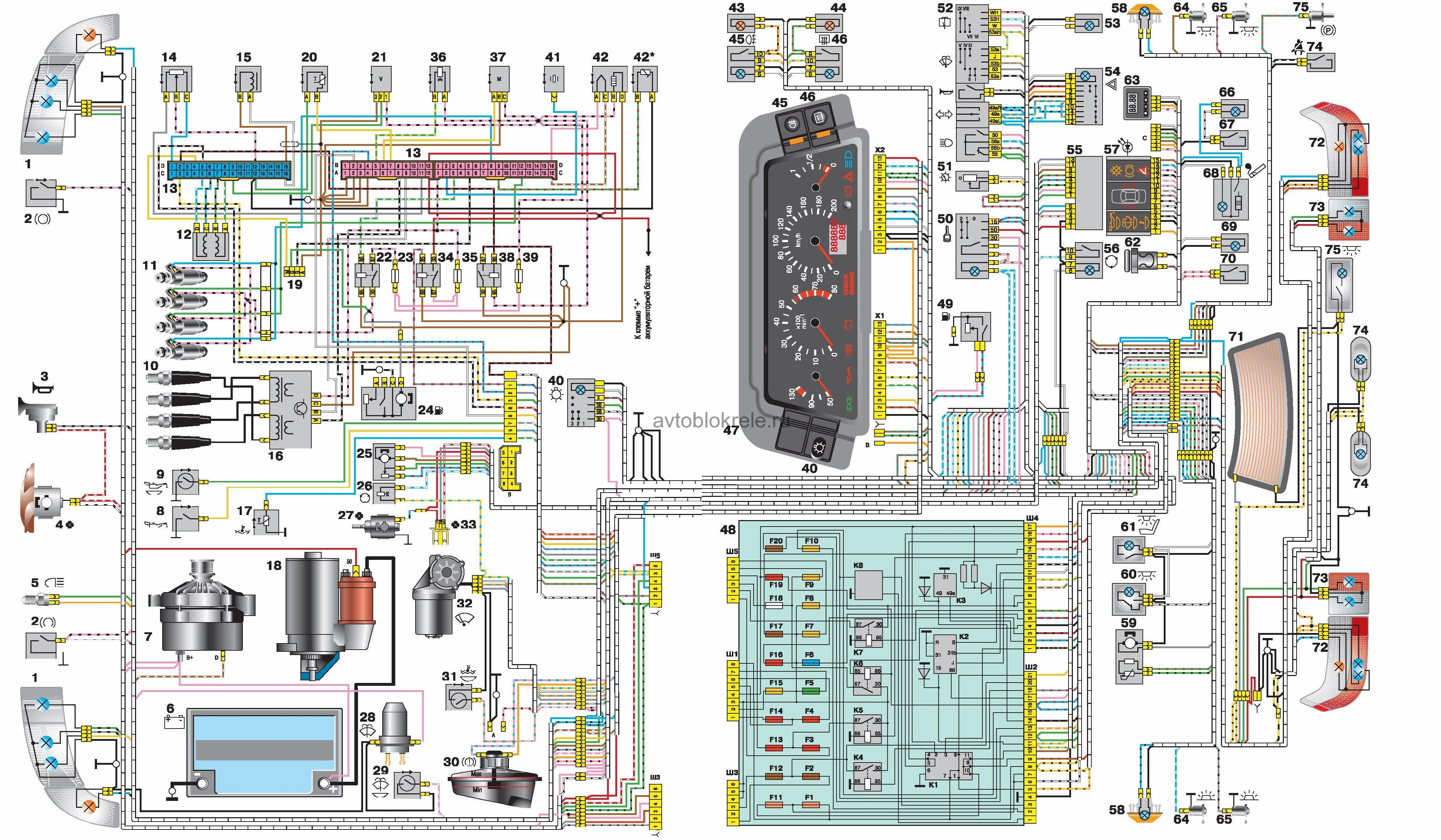 схема датчика уровня топлива ваз21102