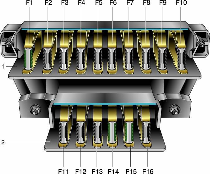 разводка проводов от блока предохранителей mazda mpv1