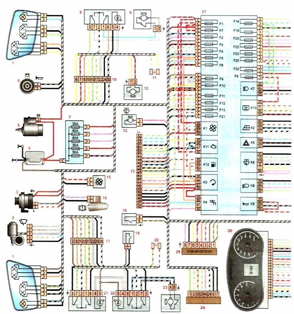 схема подключения дворников ваз2109