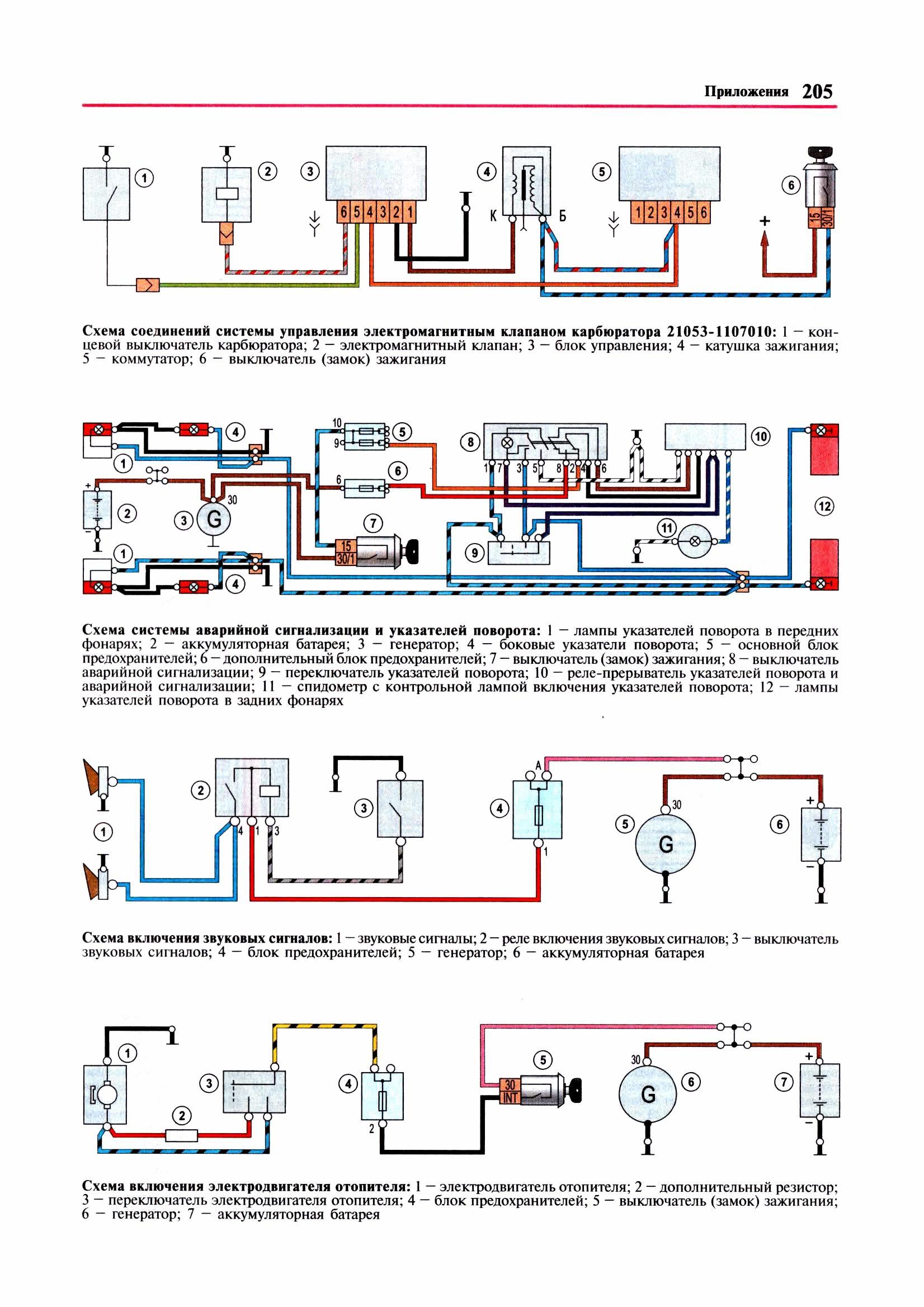 схема электроснабжения ваз 21063
