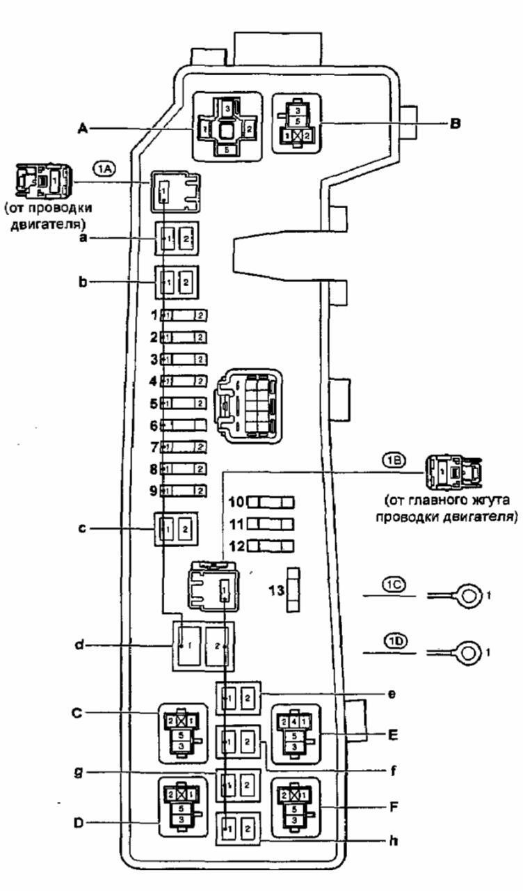 toyota corolla 2004 года седан схема топливного насоса