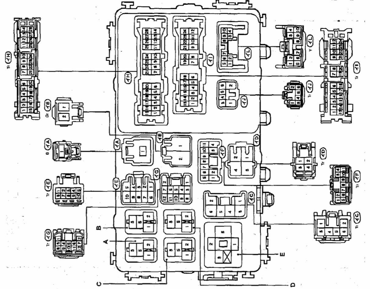 схема проводки на тойота алекс