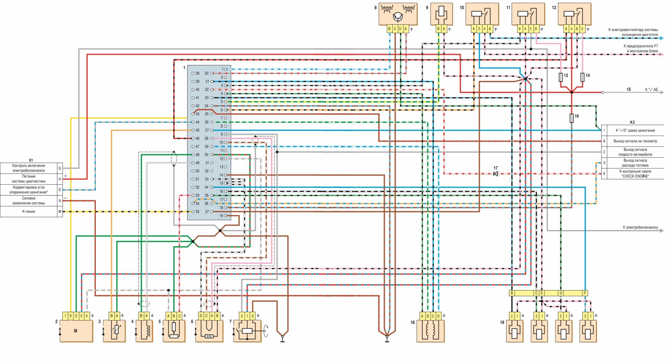 генератор г 222 схема подключения ваз 2102