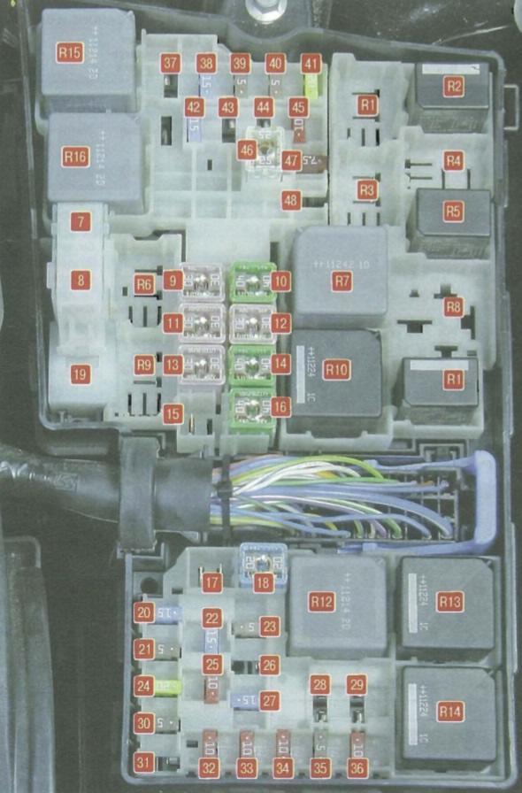 Схема предохранителей на форд фокус 2012 года