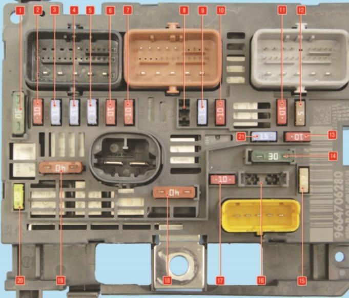 схема предохранителей пежо 407 схема