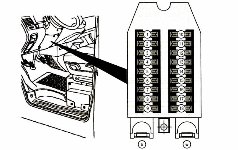 реле в панели управления вентилятором печки мерседес вито