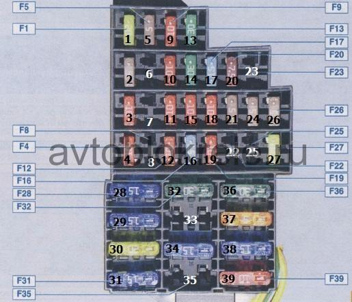 Схема освещения дастер