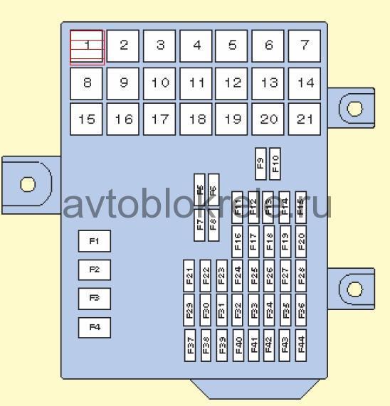 схема предохранителей митсубиси кольт 2004