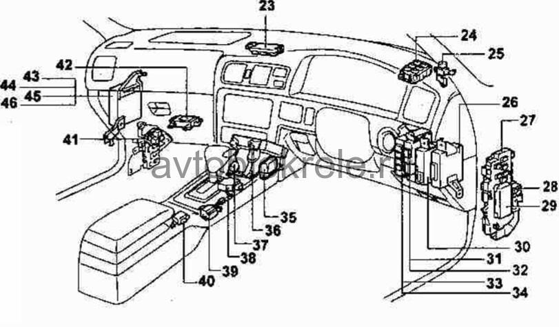 таета марк 2 расположения на двигатели датчика