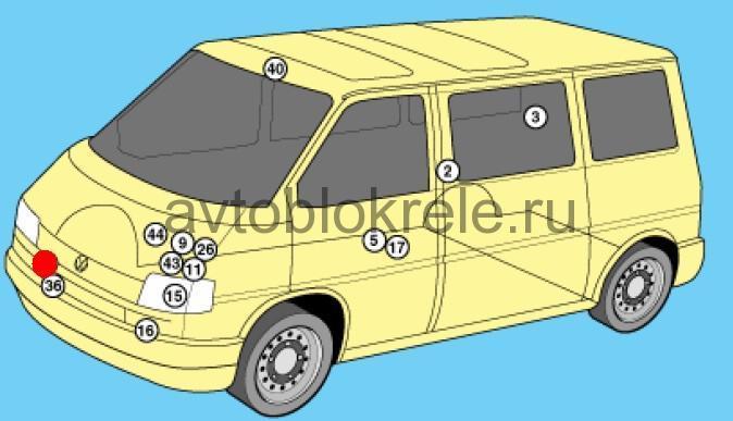электрическая схема фольксваген транспортер т4 1997