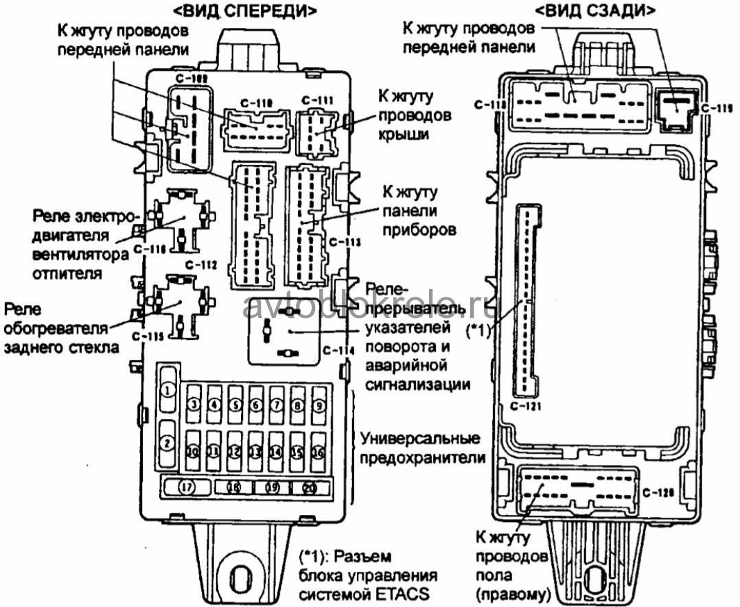 митсубиси каризма схема разъёма бензонасоса