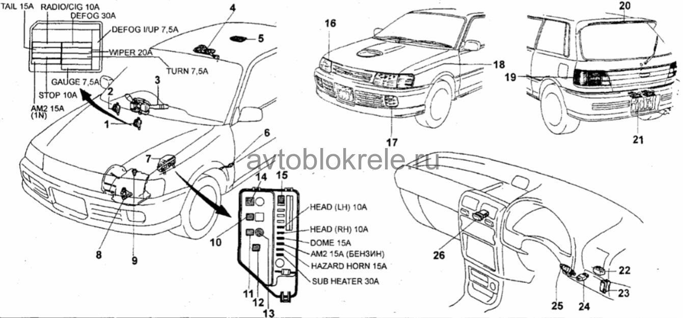 схема стартера на форд фиеста 1992год