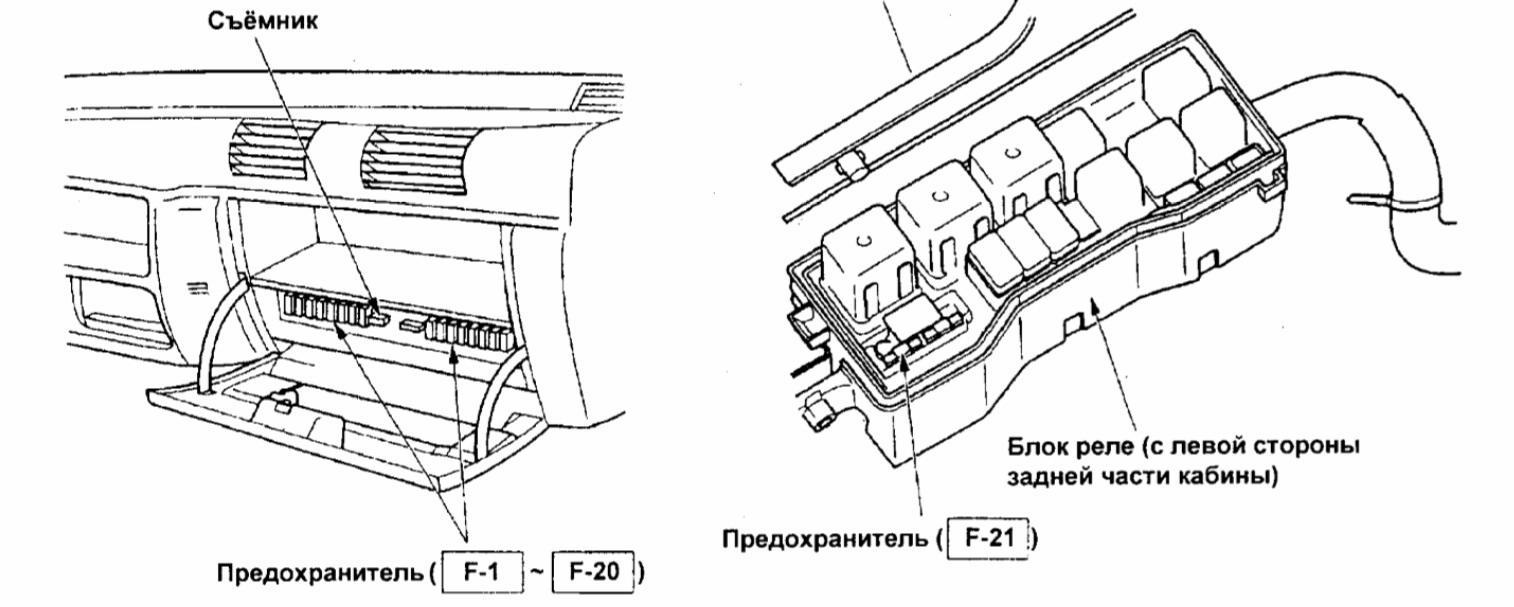 схема блока управления вентилятором ниссан микро