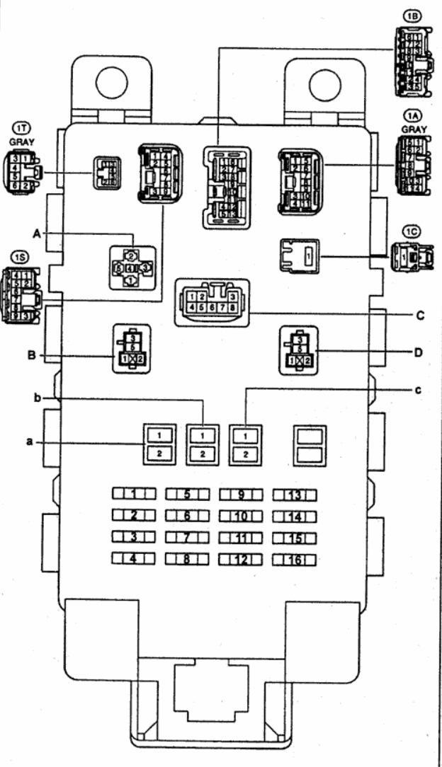 схема предохранителей toyota yaris 2000 г.