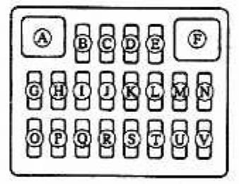 предохранители схема на mazda demio dw3w