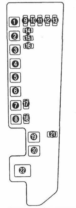 блок предохранителей mazda mpv 1994