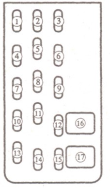 предохранитель fog mazda 626 2000 г.в.