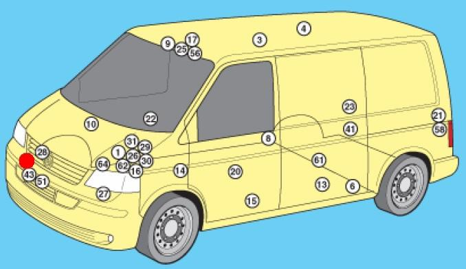 Где находятся предохранители на фольксваген транспортер 2005 года купить кузовное железо на фольксваген транспортер т4