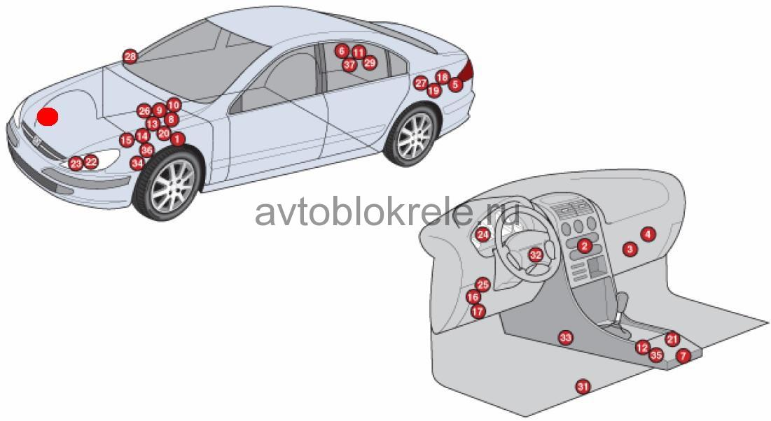 схема подключения магнитолы peugeot 607 2006