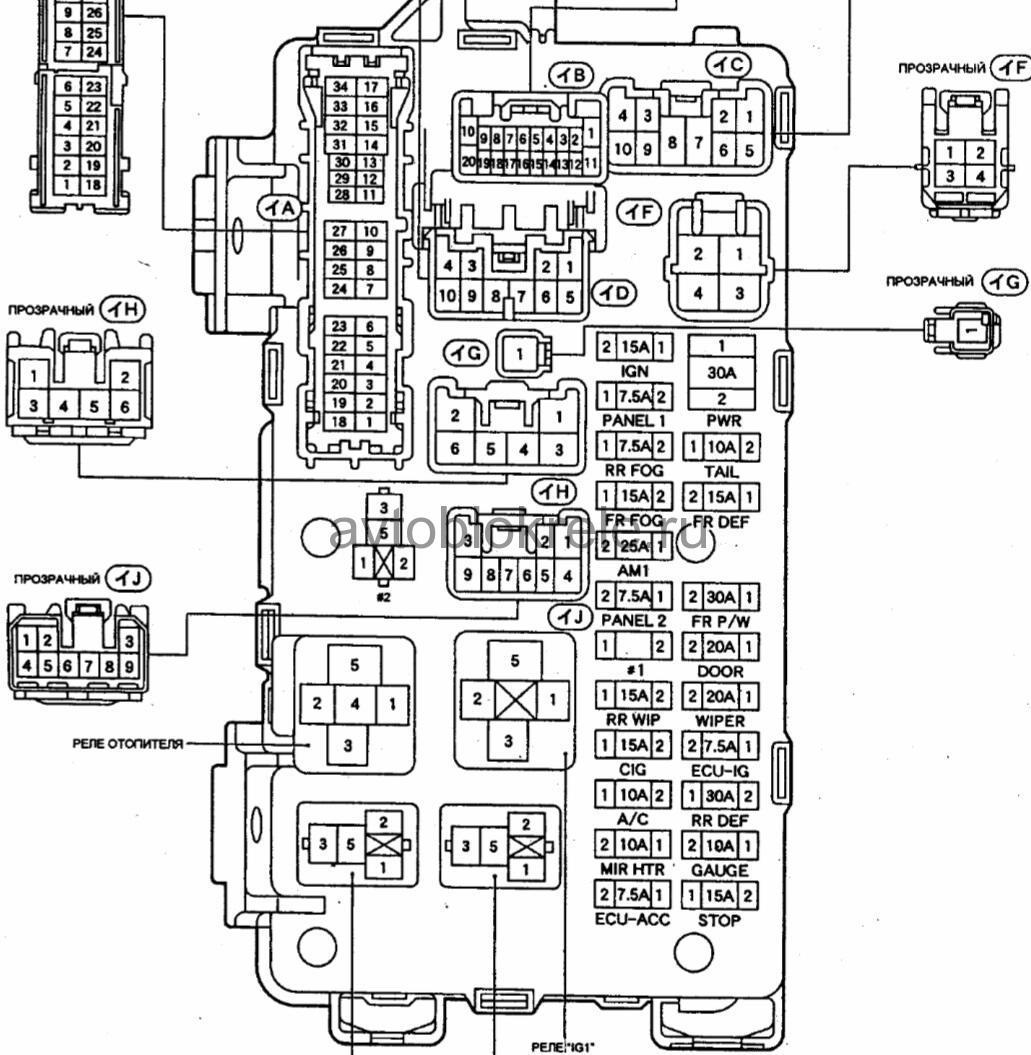 схема электро проводки карона премио картинки