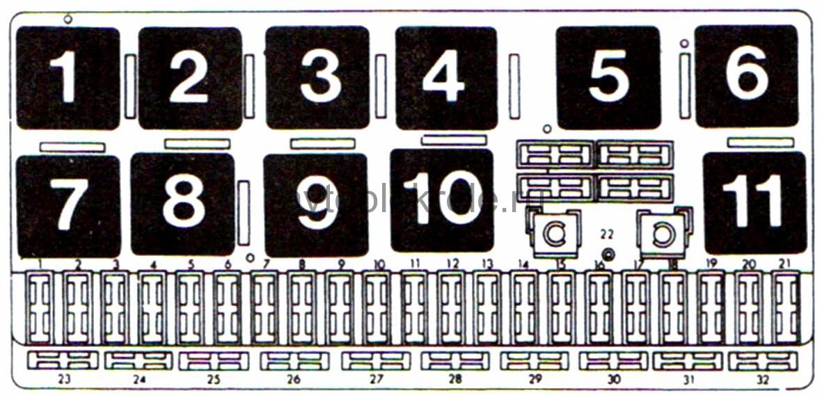 Схема реле ауди 80 б4