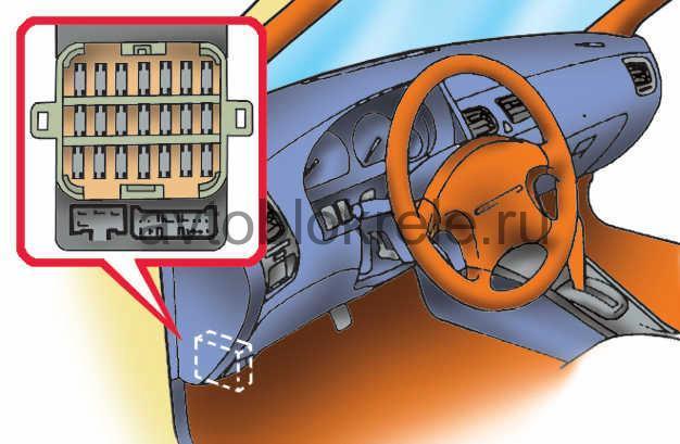 Системы управления двигателем где находится 191