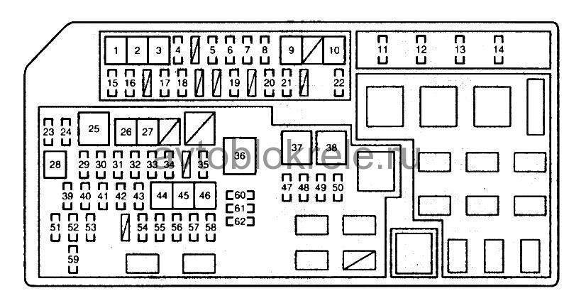 Руководство по ремонту и эксплутации Тойота Лэнд Схема предохранителей land cruiser 150