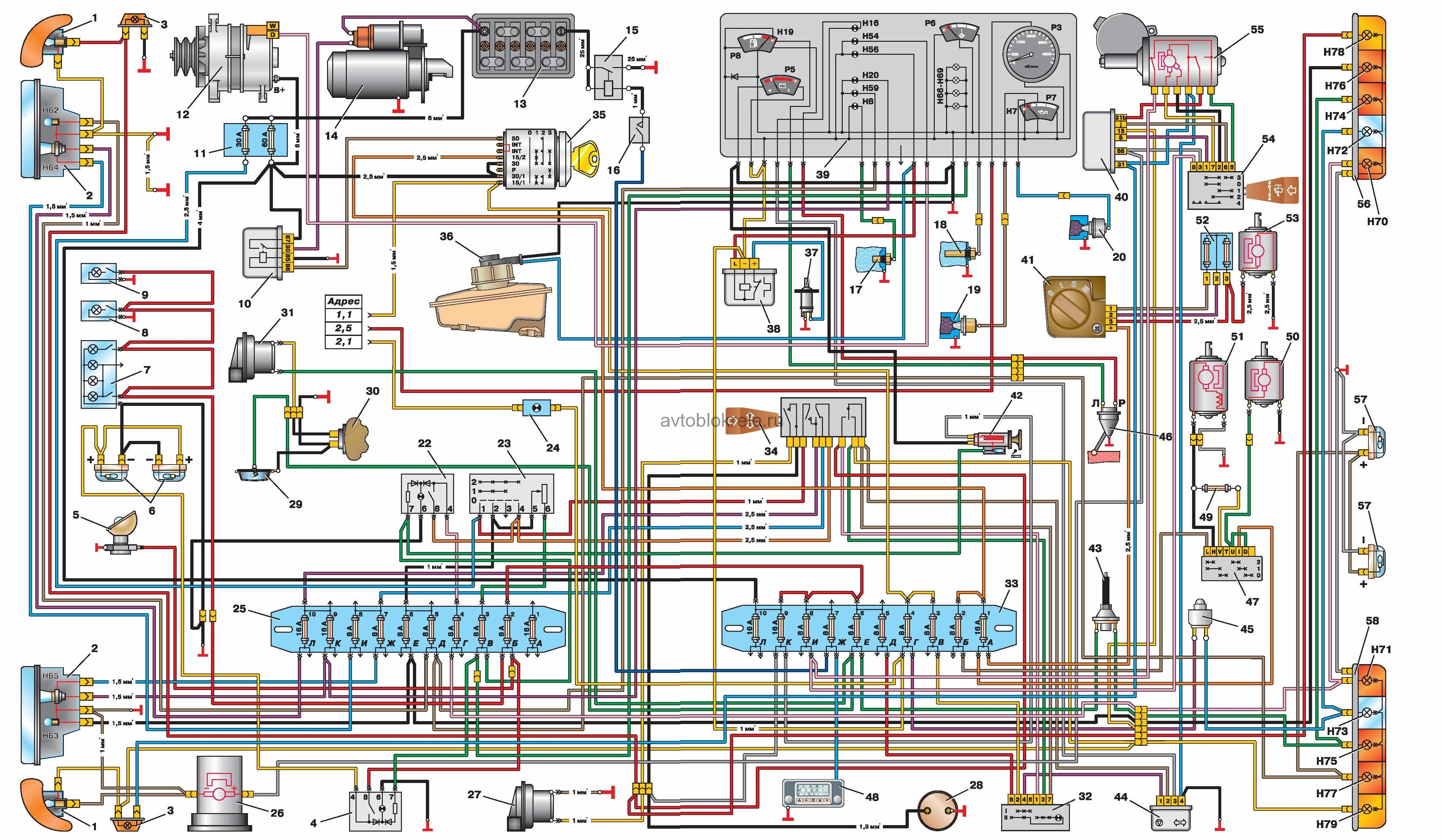 Схема поворотов газ 3302
